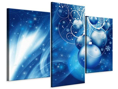 Leinwandbild 3-teilig modern Shingle Bells