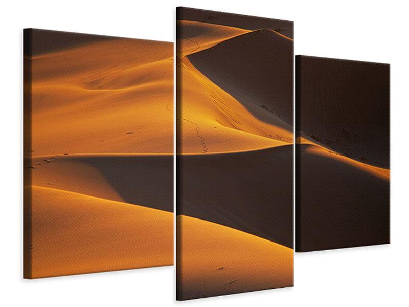 Leinwandbild 3-teilig modern Wüstensand