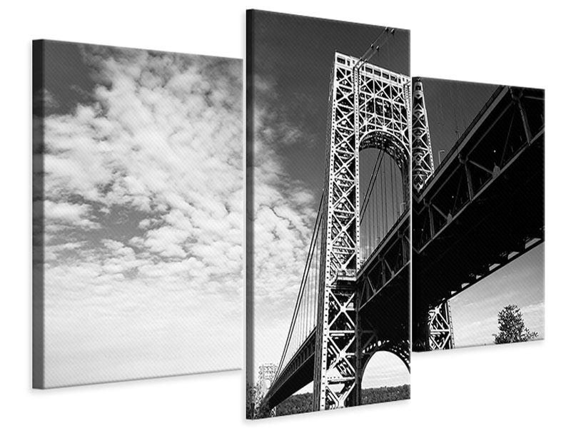 Leinwandbild 3-teilig modern Georg-Washington-Bridge