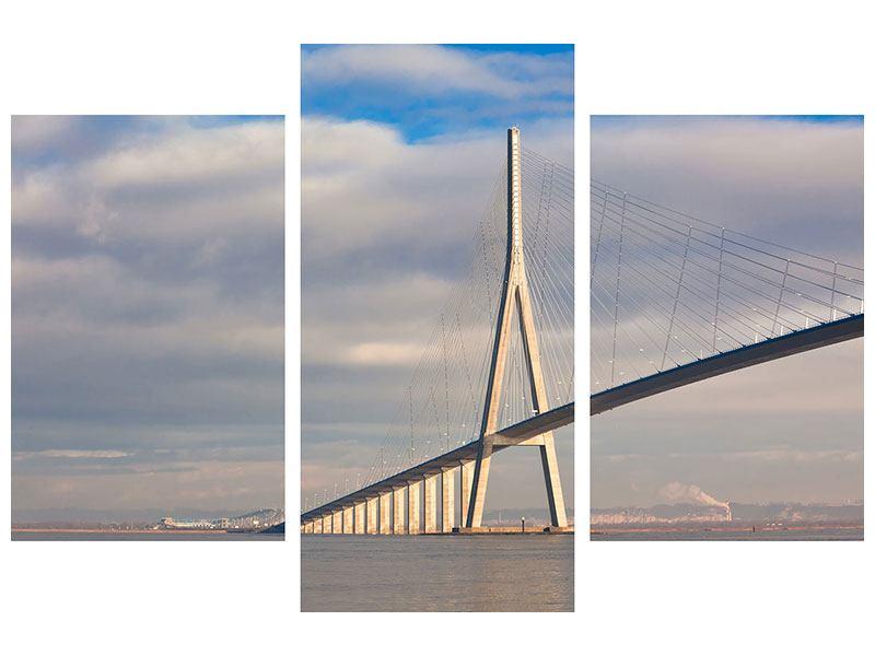 Leinwandbild 3-teilig modern Pont de Normandie