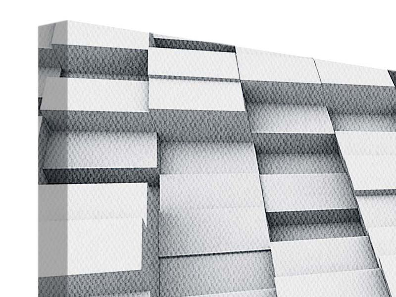 Leinwandbild 3-teilig modern 3D-Kubus