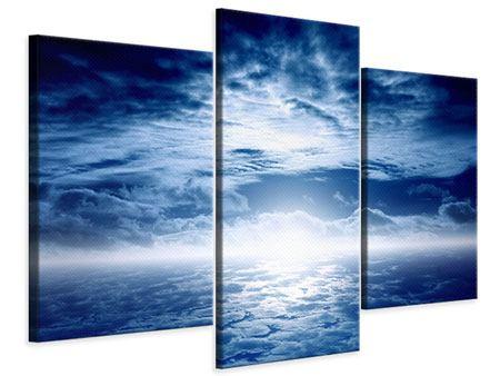 Leinwandbild 3-teilig modern Mystischer Himmel