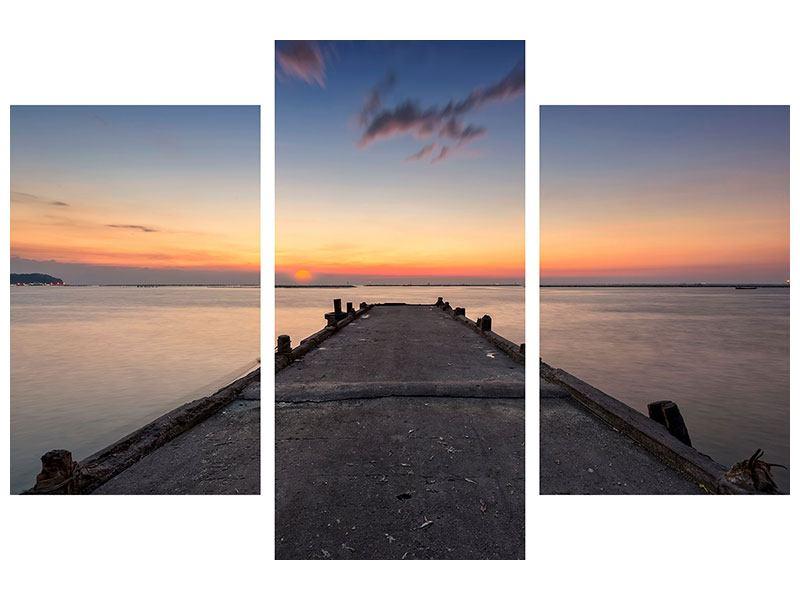Leinwandbild 3-teilig modern Der Steg