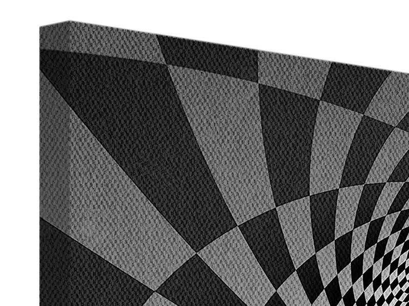 Leinwandbild 3-teilig modern Abstraktes Schachbrett