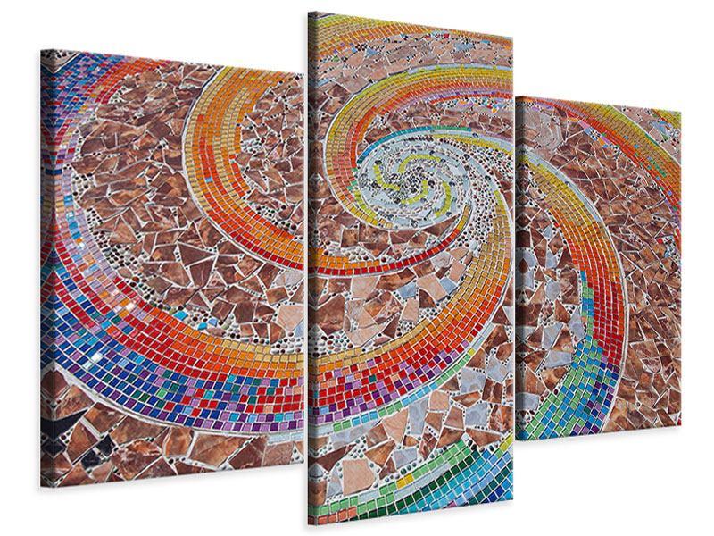 Leinwandbild 3-teilig modern Mosaik