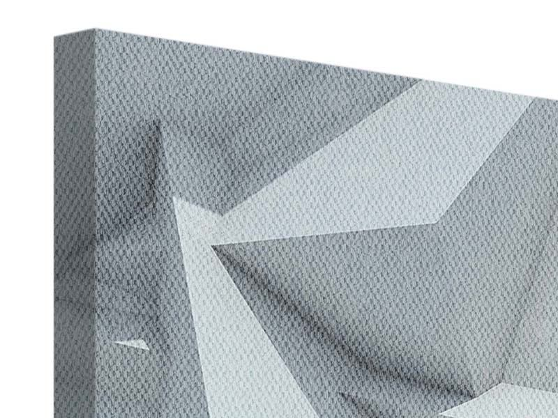 Leinwandbild 3-teilig modern 3D-Kristallo