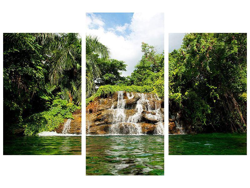Leinwandbild 3-teilig modern Lagune