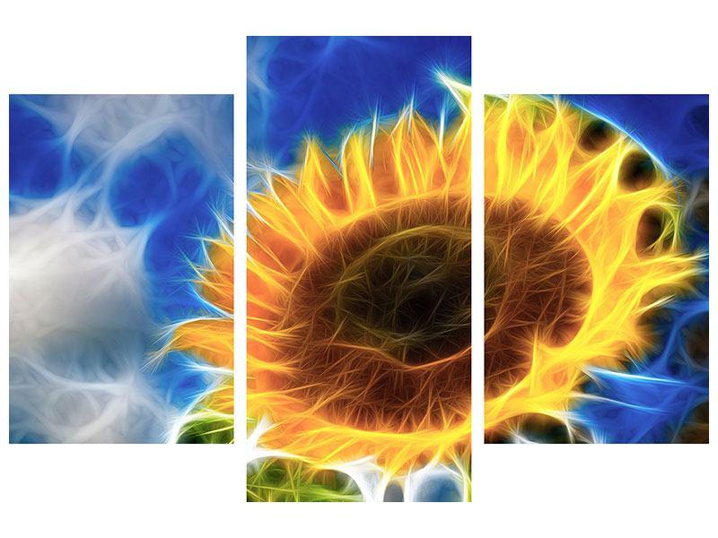 Leinwandbild 3-teilig modern Der Sonne entgegen