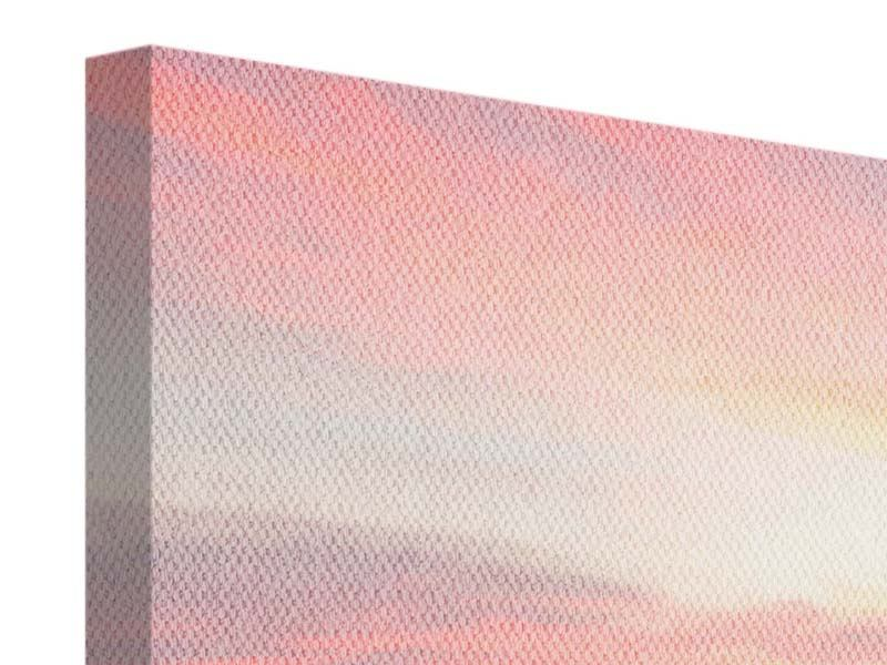 Leinwandbild 3-teilig modern Der beruhigende Sonnenuntergang