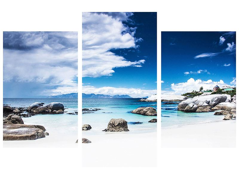 Leinwandbild 3-teilig modern Inselfeeling