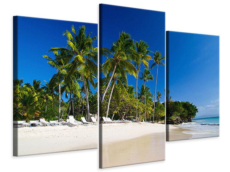 Leinwandbild 3-teilig modern Aloha
