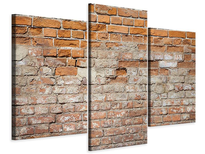 Leinwandbild 3-teilig modern Alte Klagemauer