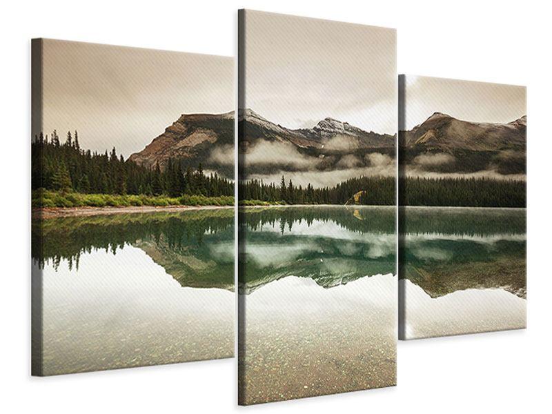 Leinwandbild 3-teilig modern Spiegelung im Glacier Nationalpark