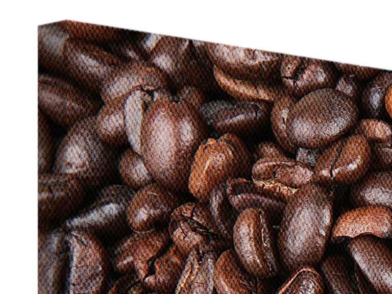 Leinwandbild 3-teilig modern Kaffeebohnen in XXL