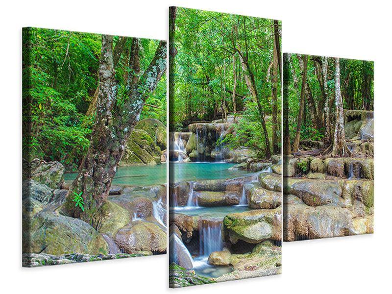 Leinwandbild 3-teilig modern Wasserspektakel
