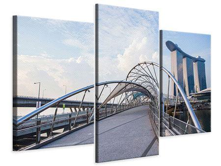 Leinwandbild 3-teilig modern Helix-Brücke