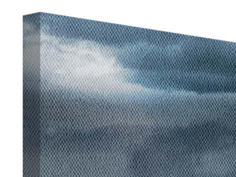 Leinwandbild 3-teilig modern Silberstreifen