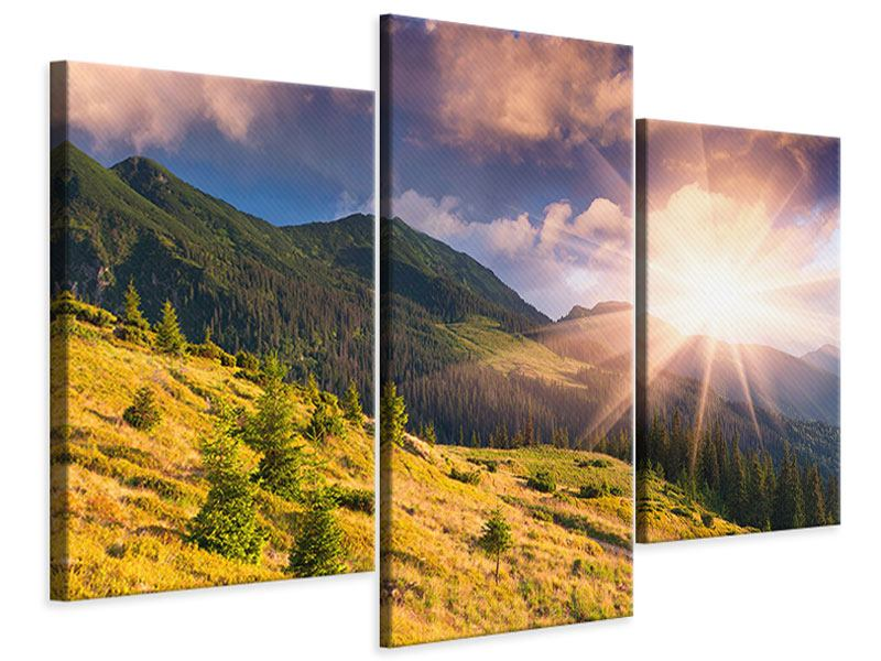 Leinwandbild 3-teilig modern Herbstanfang