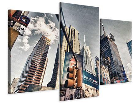 Leinwandbild 3-teilig modern Times Square