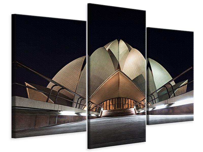 Leinwandbild 3-teilig modern Der Lotus-Tempel