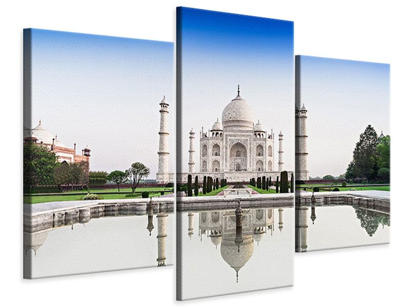 Leinwandbild 3-teilig modern Taj Mahal