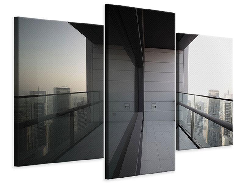 Leinwandbild 3-teilig modern Balkon in Dubai