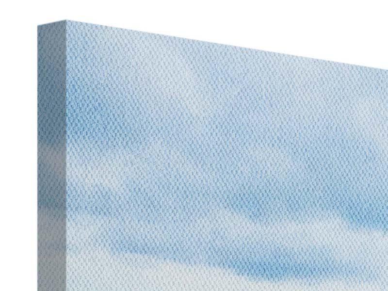 Leinwandbild 3-teilig modern Ozean-Steg