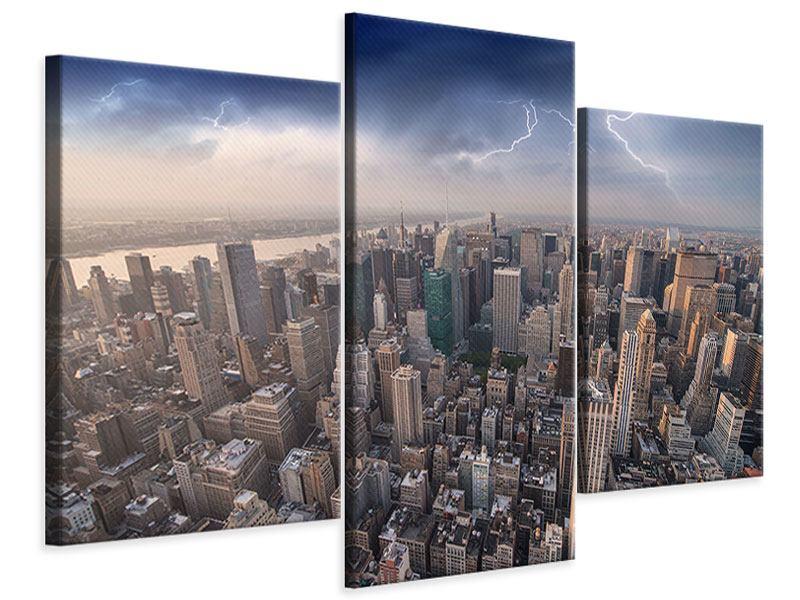 Leinwandbild 3-teilig modern Manhattan