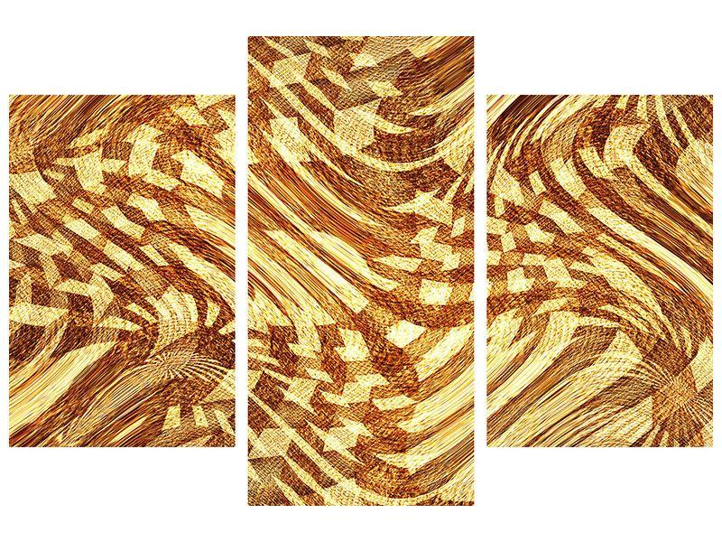Leinwandbild 3-teilig modern Retroperspektive