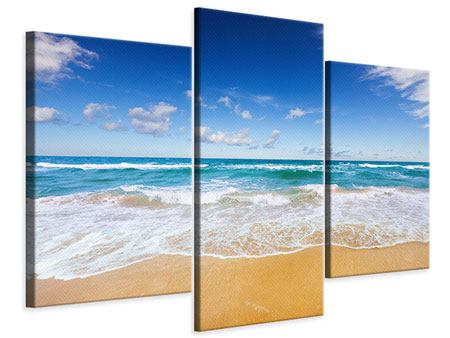 Leinwandbild 3-teilig modern Die Gezeiten und das Meer