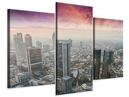 Leinwandbild 3-teilig modern Skyline Penthouse in New York