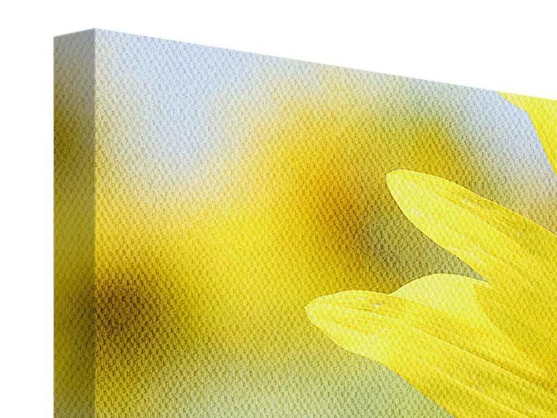 Leinwandbild 3-teilig modern Die Blume der Sonne