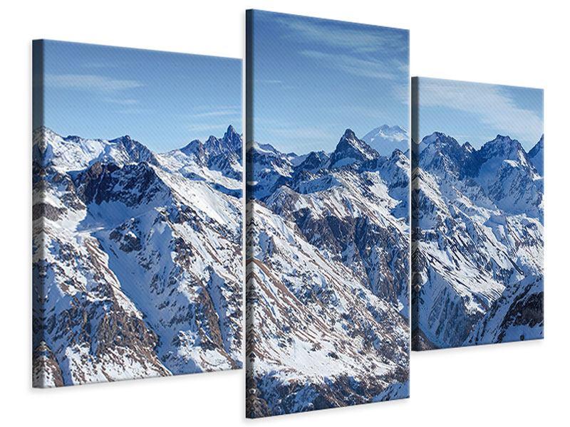 Leinwandbild 3-teilig modern Gipfelspitzen