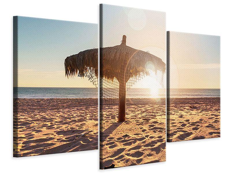 Leinwandbild 3-teilig modern Der Sonnenschirm