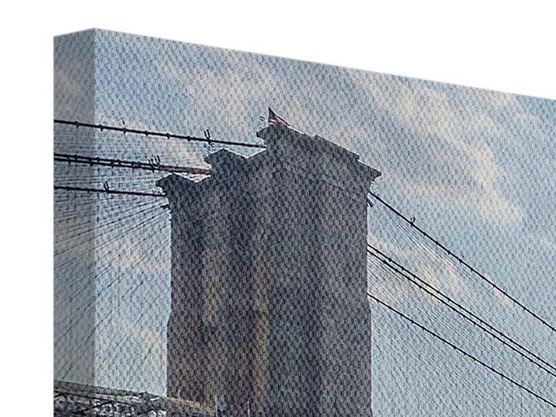 Leinwandbild 3-teilig modern Brooklyn Bridge