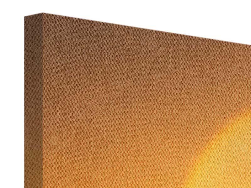Leinwandbild 3-teilig modern Sonnenuntergang Monument Valley