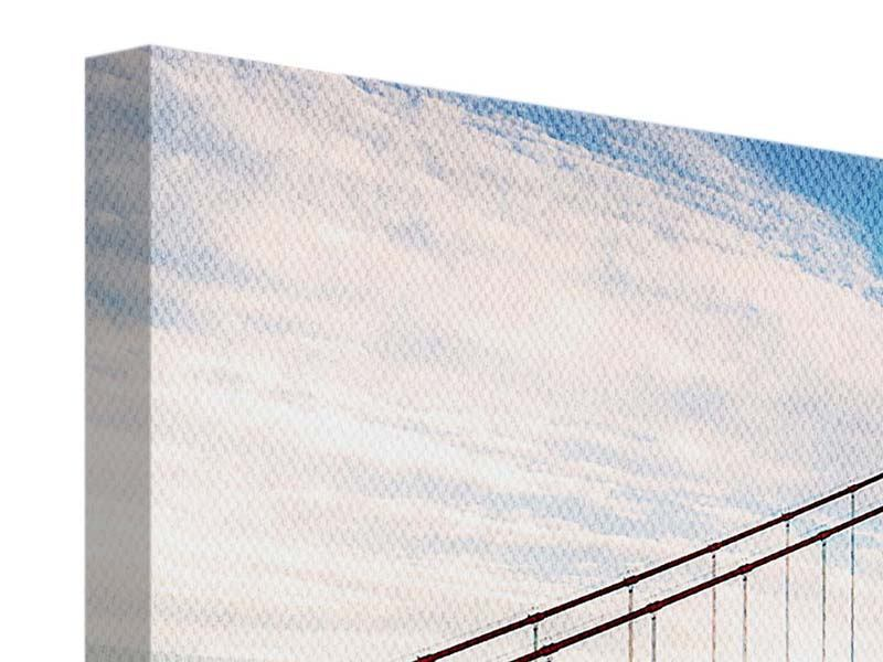 Leinwandbild 3-teilig modern Golden Gate Bridge