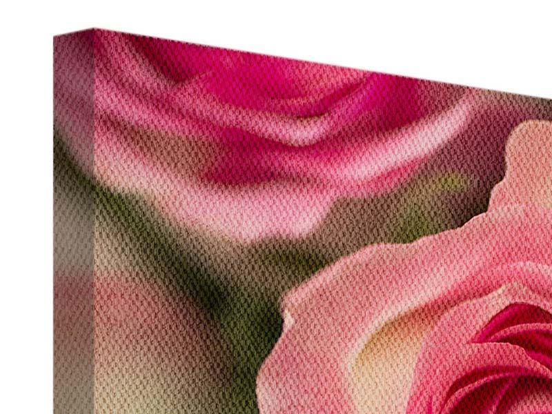 Leinwandbild 3-teilig modern Rosenliebe