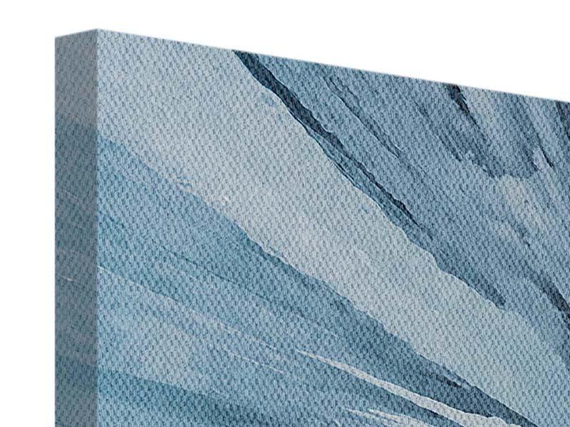 Leinwandbild 3-teilig modern Eiskunst