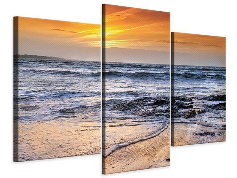 Leinwandbild 3-teilig modern Das Meer