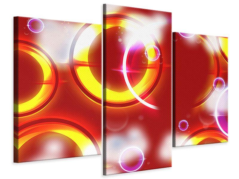 Leinwandbild 3-teilig modern Abstraktes Retro