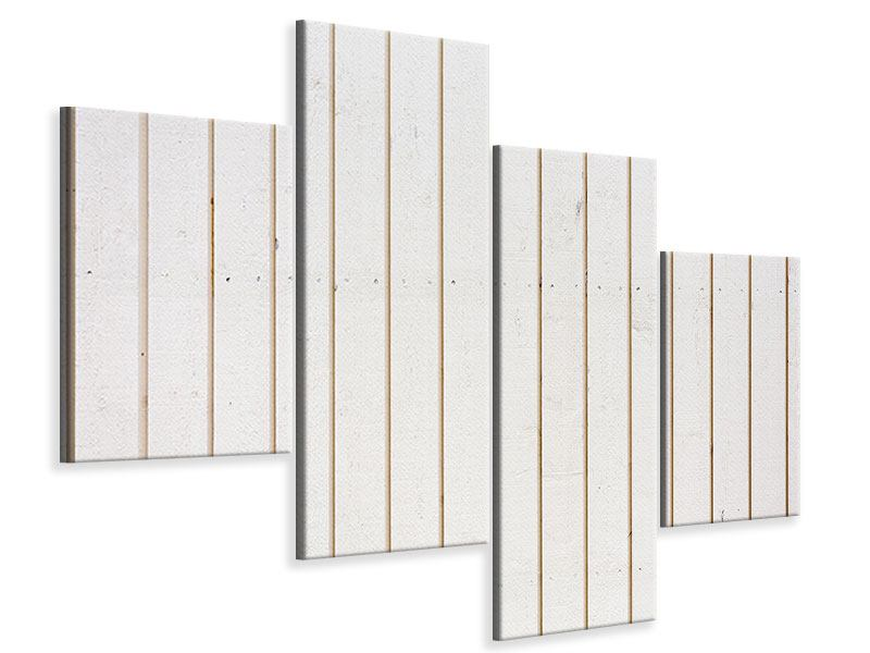 Leinwandbild 4-teilig modern Mediterranes Holz