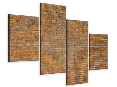 Leinwandbild 4-teilig modern Backsteinhintergrund