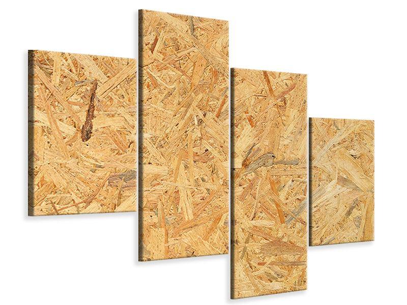 Leinwandbild 4-teilig modern Gepresstes Holz