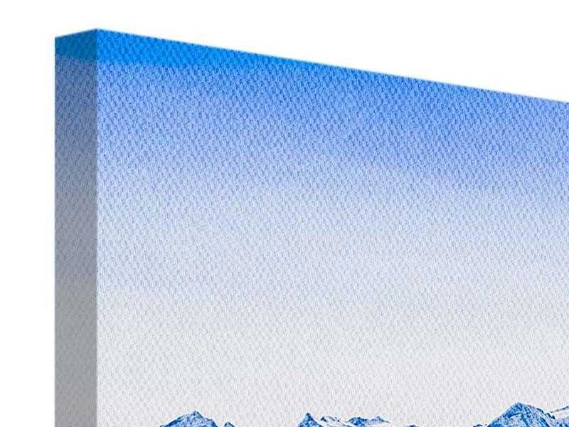 Leinwandbild 4-teilig modern Die Schweizer Alpen