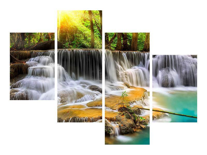 Leinwandbild 4-teilig modern Nationalpark Si Nakharin