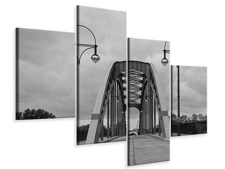 Leinwandbild 4-teilig modern Poetische Brücke