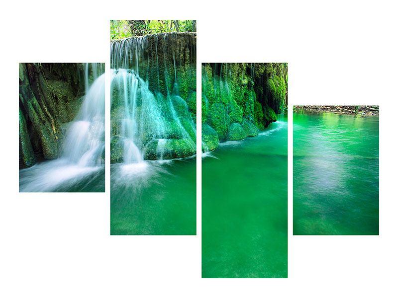 Leinwandbild 4-teilig modern Im Paradies