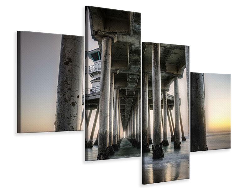 Leinwandbild 4-teilig modern Brückenpfeiler