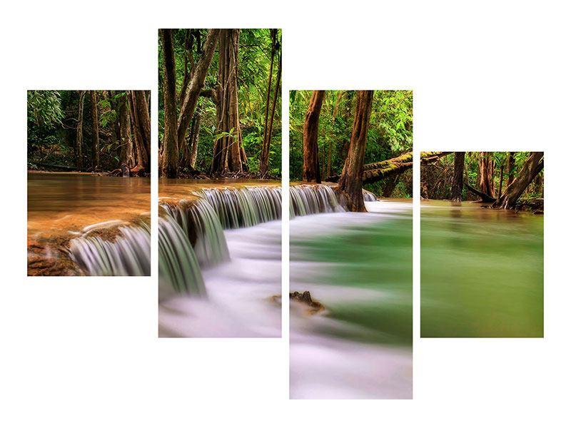 Leinwandbild 4-teilig modern Deep Forest